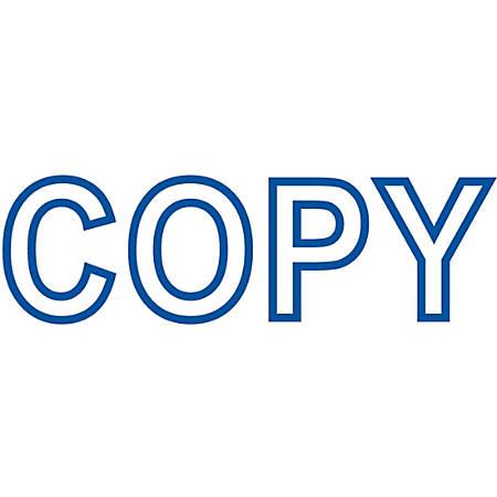 """Xstamper® One-Color Title Stamp, Pre-Inked, """"Copy"""", Blue"""