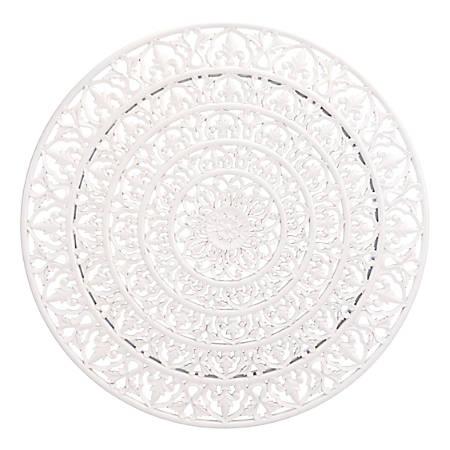 "Zuo Modern Mandala Wall Décor, 19 15/16"" x 8 1/8"", White"