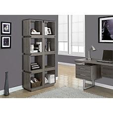 Monarch Specialties 8 Cube Bookcase Dark