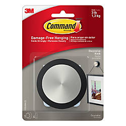 Command Round Decorative Knob 3 14