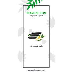 Custom Vertical Banner Spa Stones Green