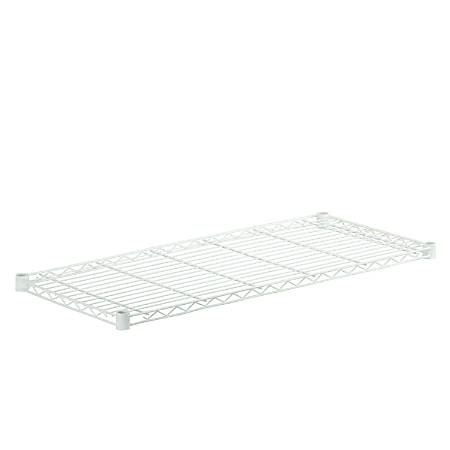 "Honey-Can-Do Powder-Coat Steel Shelf, 350-Lb Capacity, 1""H x 18""W x 42""D, White"