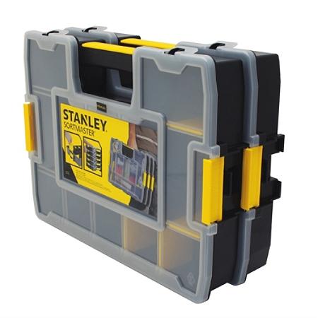"""Stanley® Sortmaster Junior Organizer, 14 13/16""""H x 11 1/2""""W x 2 3/4""""D, Black/Yellow"""
