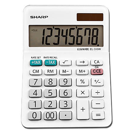 Sharp® White Series Desktop Calculator, EL-310WB