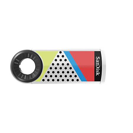 SanDisk® Cruzer™ Dial USB 2.0 Flash Drive, 32GB, 90s Color Block