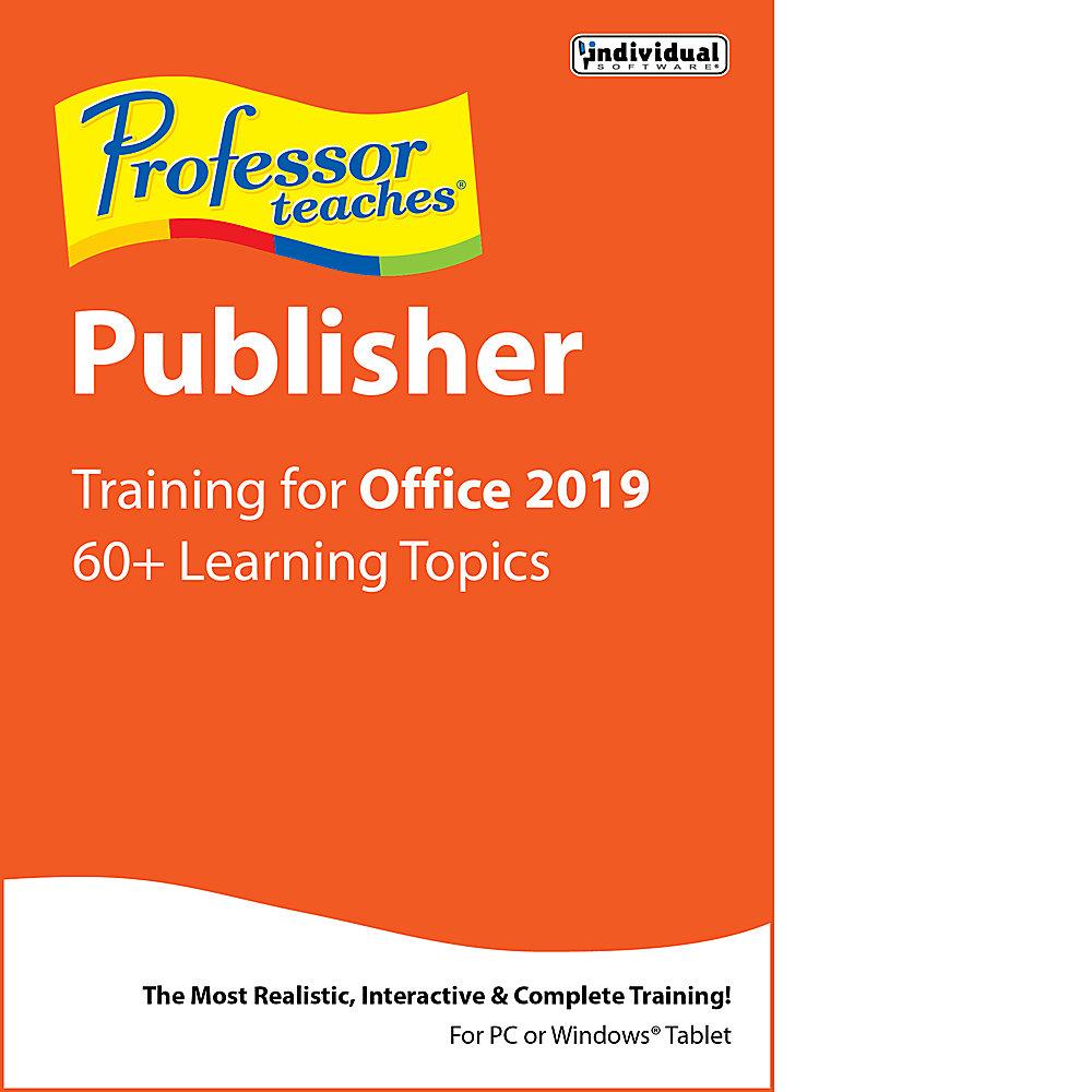 Professor Teaches Publisher 2019