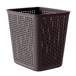 United Solutions Rectangular Plastic Wicker Wastebasket