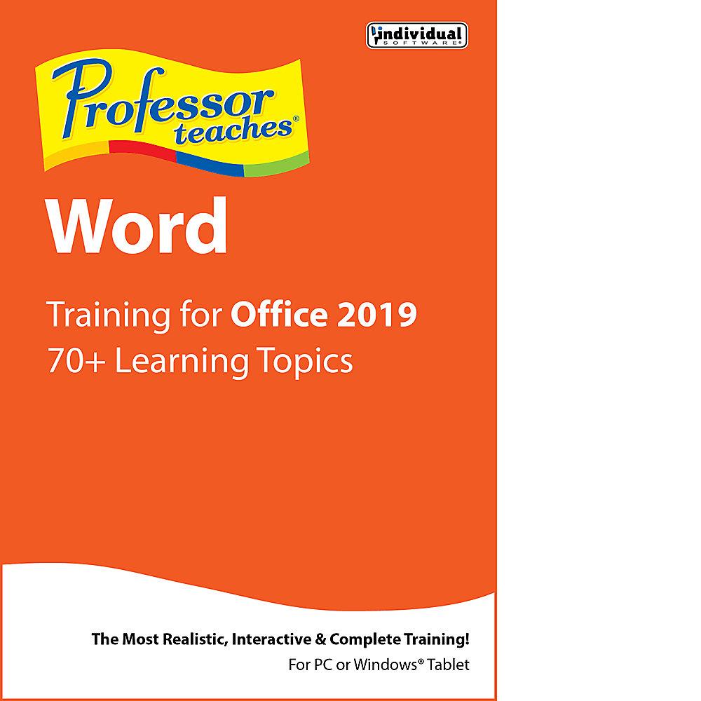 Professor Teaches Word 2019