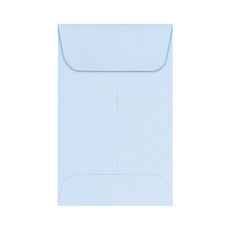 "LUX Coin Envelopes, #1, 2 1/4"" x 3 1/2"", Baby Blue, Pack Of 500"