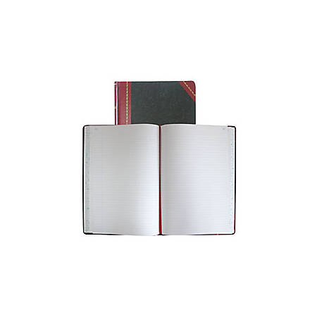 """National® Brand Hardbound Columnar Record Book, 10 3/8"""" x 8 1/8"""", 50% Recycled, Black, 37 Lines Per Page, Book Of 150 Pages"""