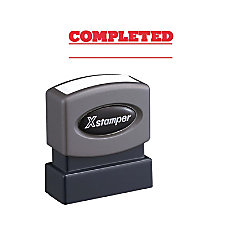 Xstamper COMPLETED Stamp Message Stamp COMPLETED