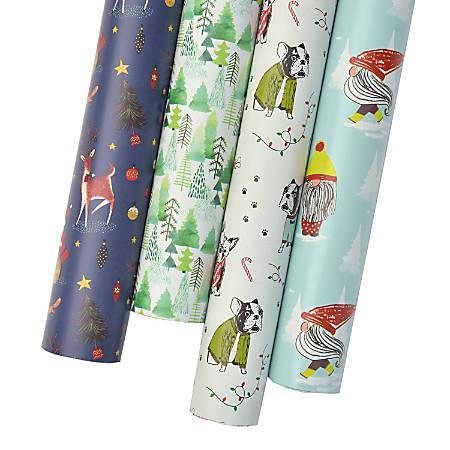 "Gartner™ Studios Holiday Gift Wrap, Whimsy, 12' x 30"", Assorted Designs"