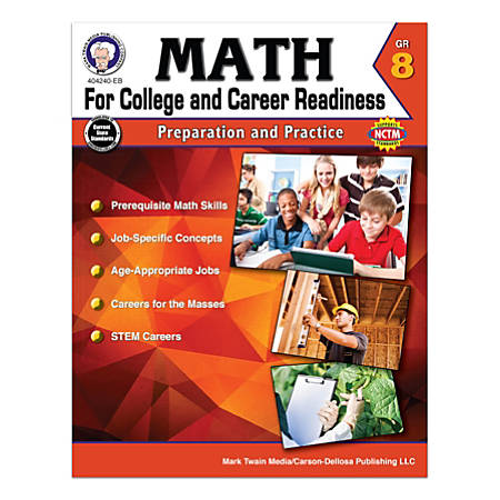 Carson-Dellosa Math For College And Career Readiness Workbook, Grade 8