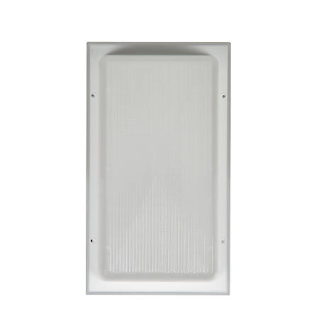 Luminance LED Wall Mount Fixture, 11 Watts, 3000K/Warm White, 1100 Lumen, White/Clear Lens