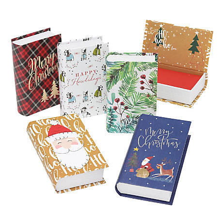 "Gartner Studios Holiday Gift Card Holders, 5"" x 3"", Multicolor, Pack Of 5 Holders"
