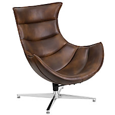 Flash Furniture Cocoon Swivel Chair BrownSilver