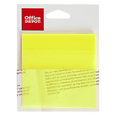 Office Depot Brand Translucent Self Stick