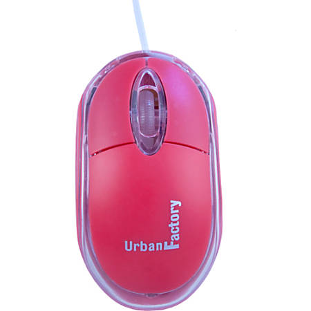 Urban Factory USB 2.0 Optical Krystal Mouse, Red