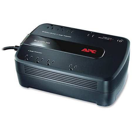 APC® Back-UPS® ES 550 Battery Backup, BE550G, 550VA/330 Watt
