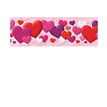 "TREND Bolder Borders® Bulletin Board Borders, 2 3/4"" x 35 3/4"", Hearts, Grades Pre-K - 4, Pack Of 11"