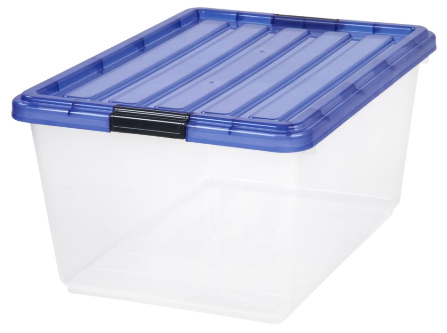 IRIS Buckle Down Plastic Storage Box 44 Qt 21 34 H x 15 34 W x 10 58