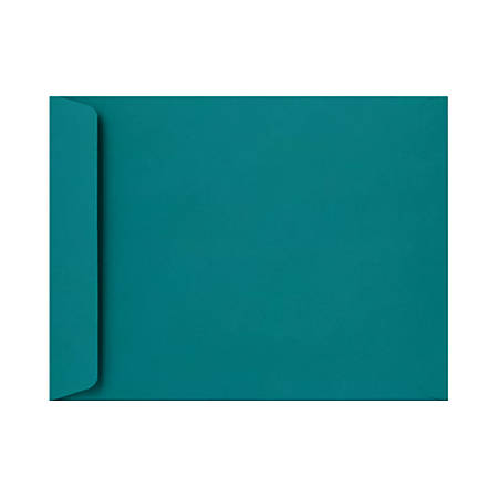 """LUX Open-End Envelopes With Peel & Press Closure, 10"""" x 13"""", Teal, Pack Of 500"""
