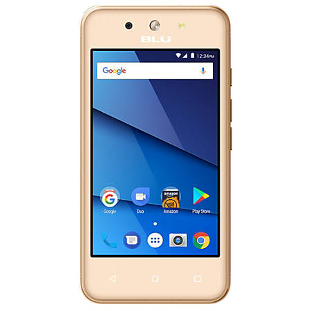 BLU Dash L4 LTE D0050UU Cell Phone, Gold, PBN201426