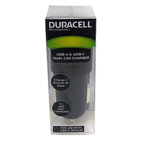 Duracell® Dual Car Charger, Black, LE2318