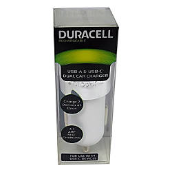 Duracell Dual Car Charger White LE2319