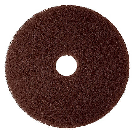 "3M™ 7100 Floor Stripper Pads, 20"", Brown, Pack Of 5 Pads"
