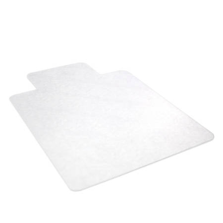 "Realspace® Hard Chair Mat For Hard Surfaces, 45""W x 53""D, Wide Lip, Clear"