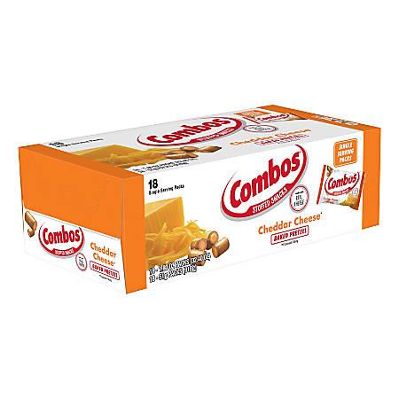 Combos® Snack, Cheddar Cheese Pretzel, 1.8 Oz, Box Of 12