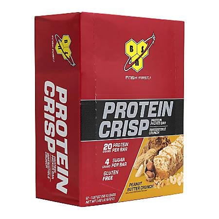 FINISH FIRST Protein Crisp Protein Bar Peanut Butter Crunch, 1.97 oz, 12 Count
