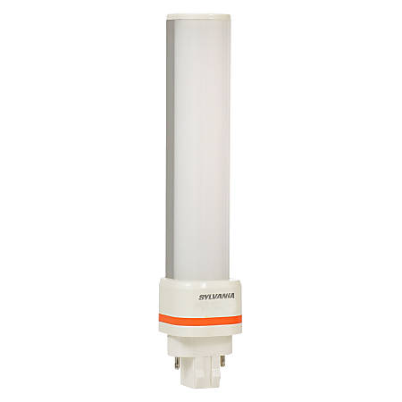 "Sylvania 6.77"" GX23 Horizontal LED Tube Light, 625 Lumen, 6 Watt, 2700K/Soft White, Replaces CF13D/S Fluorescents, Case of 24"