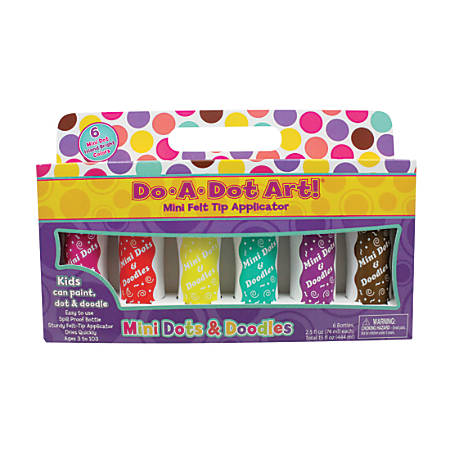 Do-A-Dot Art!™ Mini Felt Tip Markers, Island Bright, 2.5 Oz, Assorted Colors, Pack Of 6