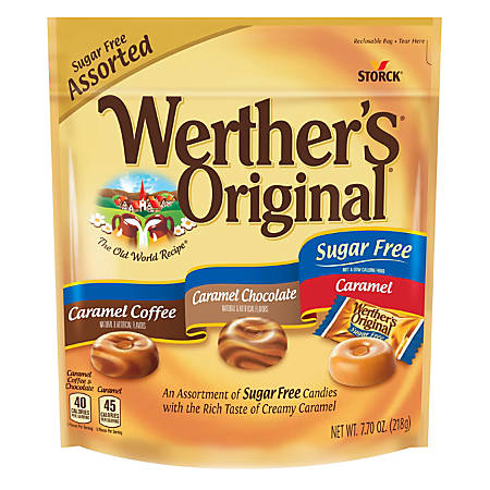 werthers original hard candies sugar free 7 7 oz bag by office