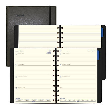 "Filofax® Weekly Planner, 10 7/8"" x 8 1/2"", Black, January to December 2019"