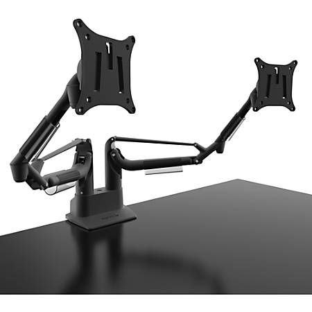 """Kanto DMS2000 Desk Mount for Monitor - Black - 2 Display(s) Supported32"""" Screen Support - 33.07 lb Load Capacity - 75 x 75, 100 x 100 VESA Standard"""