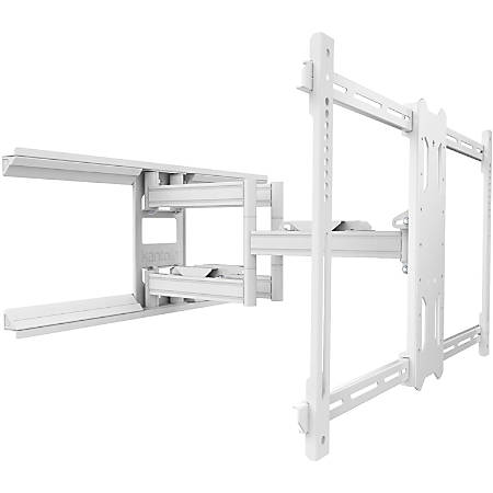 "Kanto PDX680W Wall Mount for Flat Panel Display - White - 1 Display(s) Supported80"" Screen Support - 125 lb Load Capacity - 700 x 400 VESA Standard"