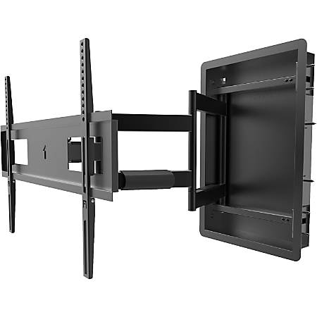 """Kanto R500 Wall Mount for TV - Black - 1 Display(s) Supported80"""" Screen Support - 135 lb Load Capacity - 600 x 400 VESA Standard"""