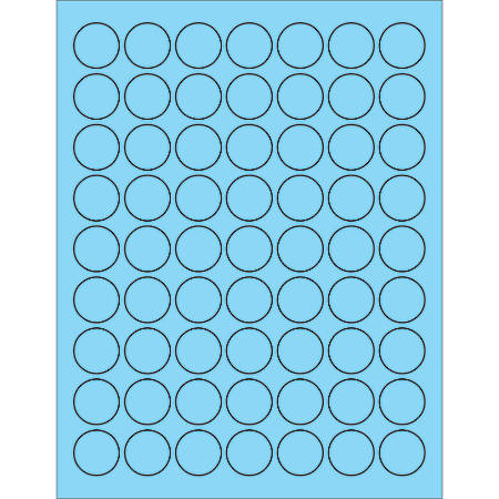"""Office Depot® Brand Labels, LL191BE, Circle, 1"""", Pastel Blue, Case Of 6,300"""