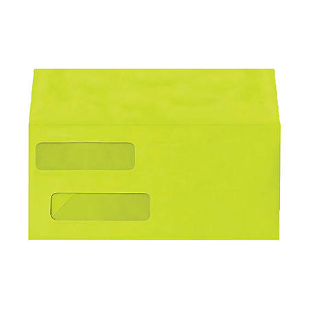 "LUX Double-Window Invoice Envelopes With Moisture Closure, #10, 4 1/8"" x 9 1/8"", Wasabi, Pack Of 250"