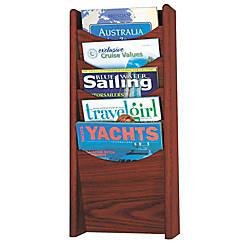 Safco 5 Pocket Wood Literature Display