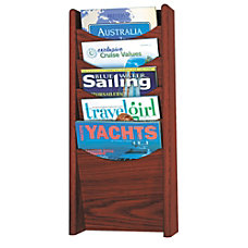 Safco 5 Pocket Wood Literature Display