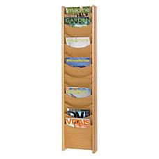 Safco 12 Pocket Wood Literature Display