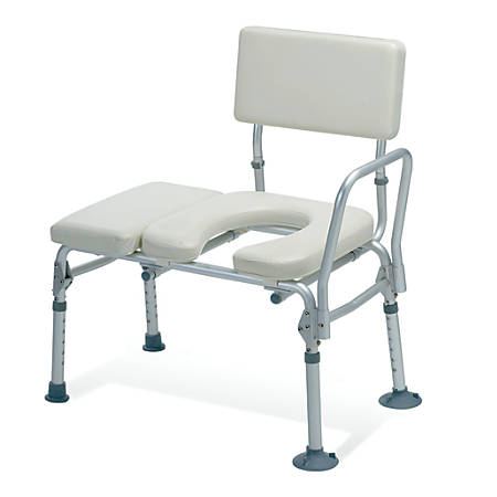 Guardian Padded Commode Transfer Bench, Tan
