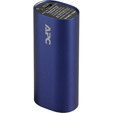 APC by Schneider Electric Mobile Power Pack, 3000mAh Li-ion Cylinder, Blue