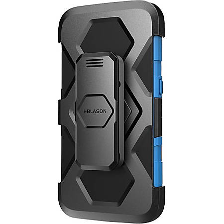 i-Blason Prime Carrying Case (Holster) Smartphone - Blue - Shock Resistant, Impact Resistant - Polycarbonate, Silicone - Holster, Belt Clip