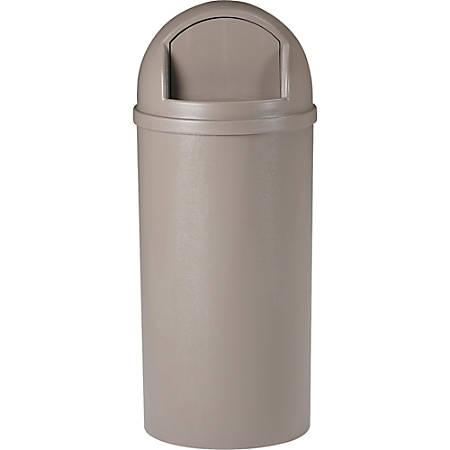 Rubbermaid® Marshal® Waste Receptacle, 15 Gallons, Beige