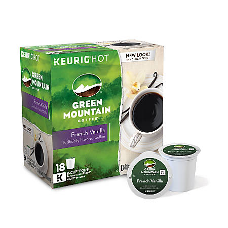 Green Mountain Coffee® French Vanilla Coffee K-Cup® Pods, Box Of 18 Pods